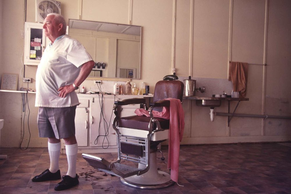 Barber. Outback Queensland. Late 1980s