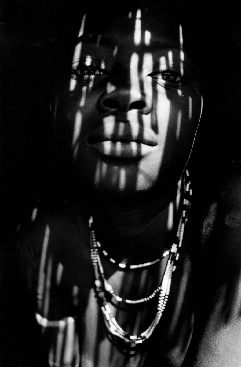 """Dream Gaze"" Nuba woman in the Nuba Mountains, Sudan. 1996"