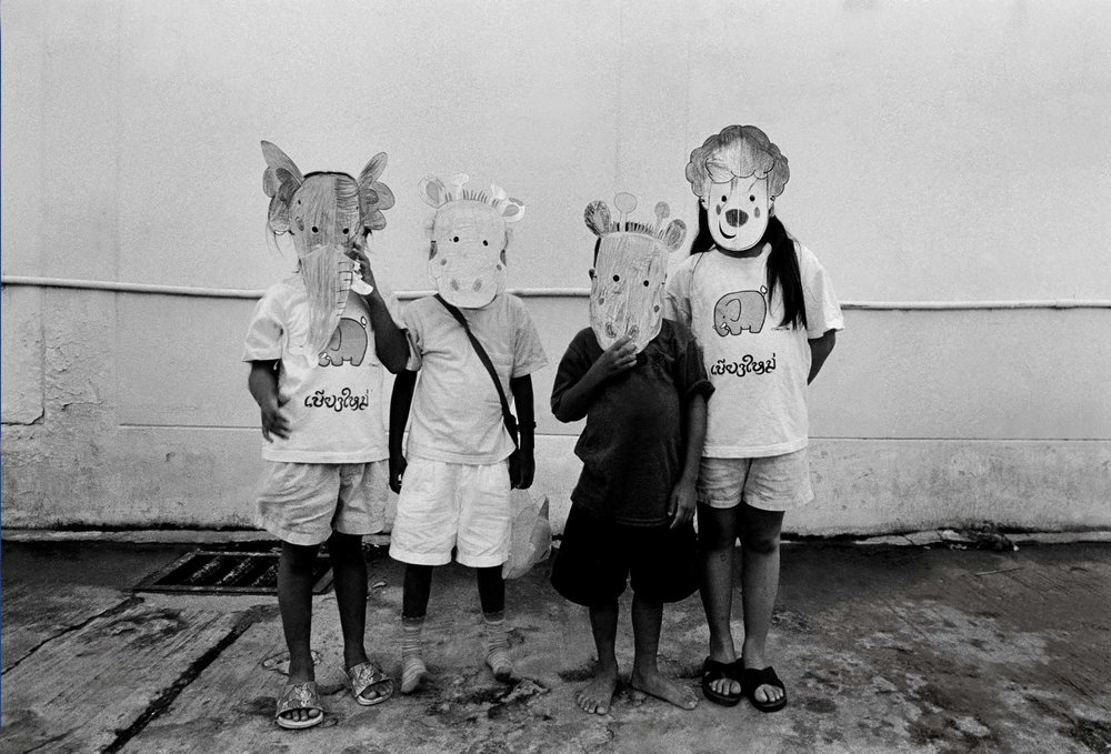 """Party"" Children at an orphanage for those with HIV. Chiang Mai, Thailand. The mid-1990s."