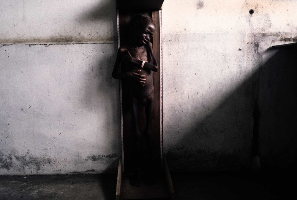 Slow starvation. Liberia, 1996