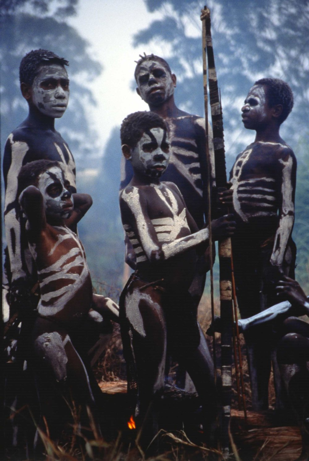 Around the campfire. Mt. Hagen, PNG 1997