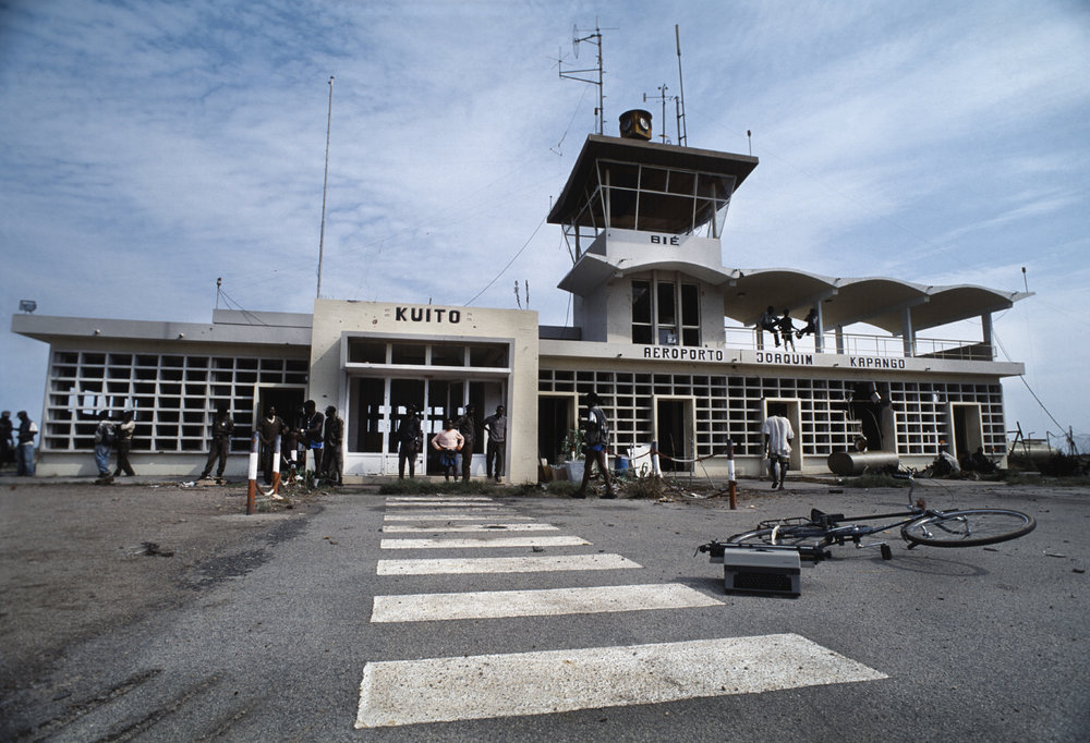 Quito Airport during Angola's destructive and brutal civil war. Quito, Angola 1993