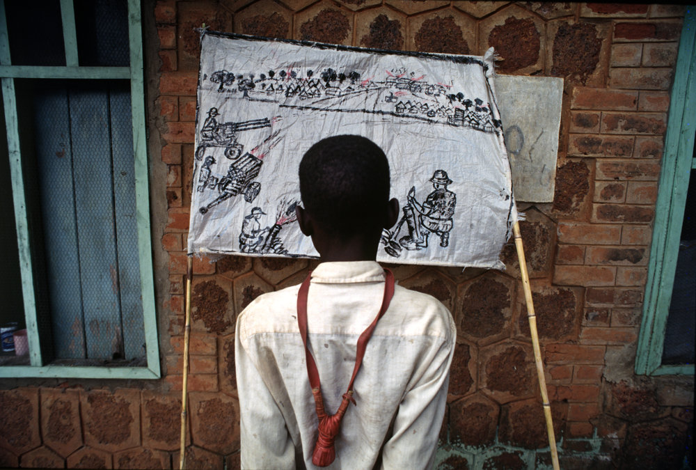 """Slingshot"" during Liberia's civil war.1996"