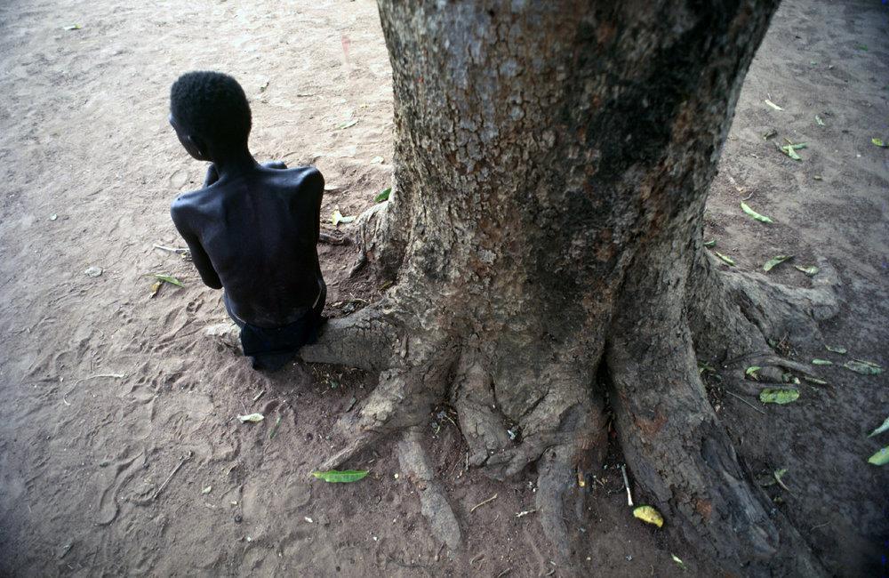 Stilled by starvation during Sudan's long-running civil war. 1993