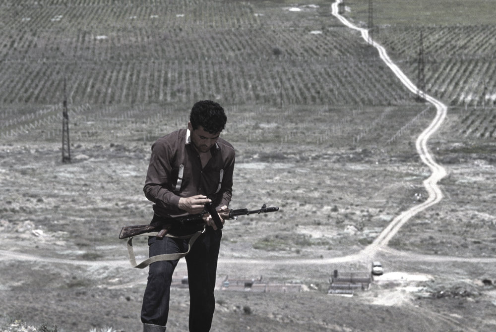On the way to fight during the Nagorno-Karabakh War. 1992