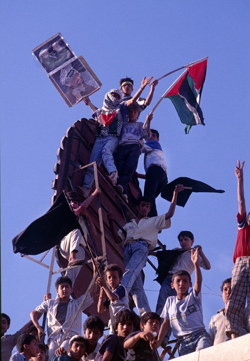 Anti-American protests. Amman, Jordan. 1991