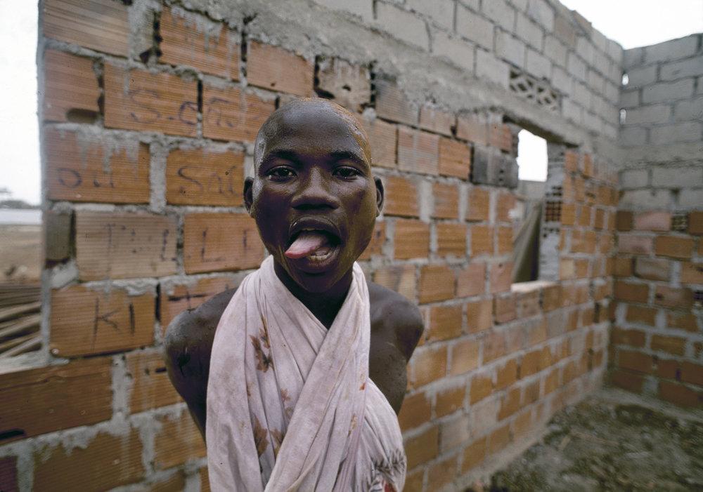 A former combatant of Angola's long running civil war at Papa Kitoko's mental asylum, Luanda, Angola, 1993