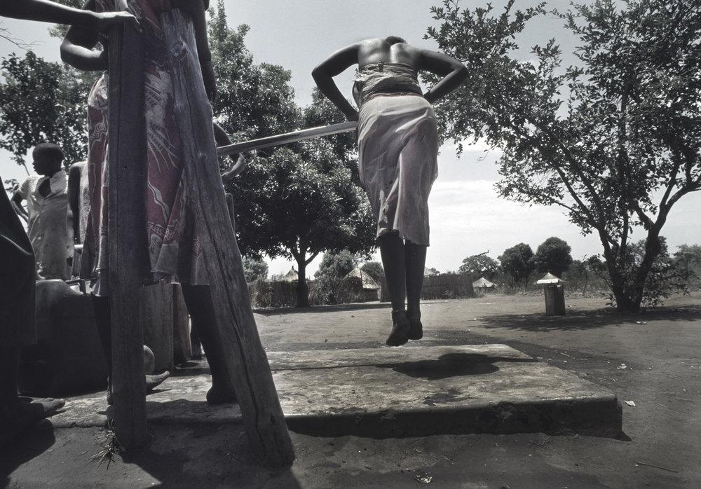 Pumping water during Sudan's long-running civil war. 1993