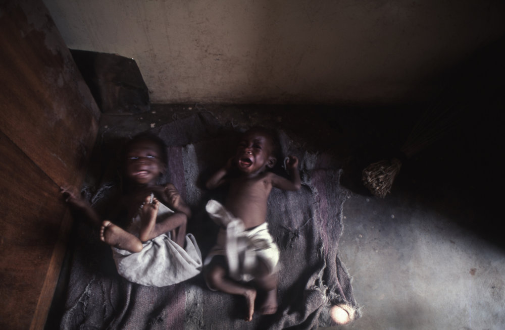"""Hunger Cries"" During Angola's abhorrant civil war. Quito, Angola, 1993"