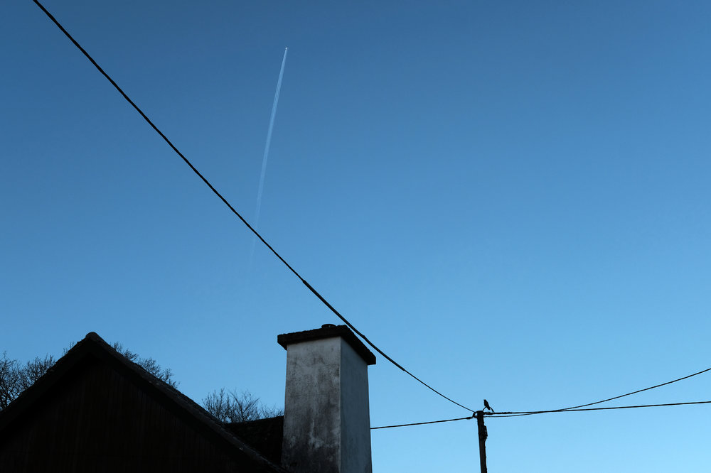 Jet over Tayvallich, Argyll & Bute.