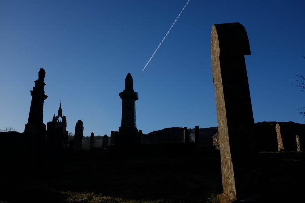 'Cemetery & Vapor Trail'Tarbert Argyll & Bute.
