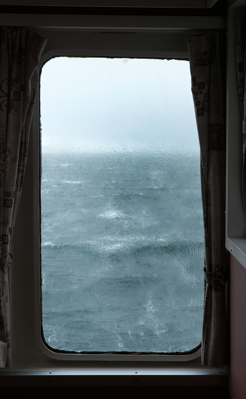 Window # 1 'Inclement.' Ferry to Isle of Mull. West Scotland.