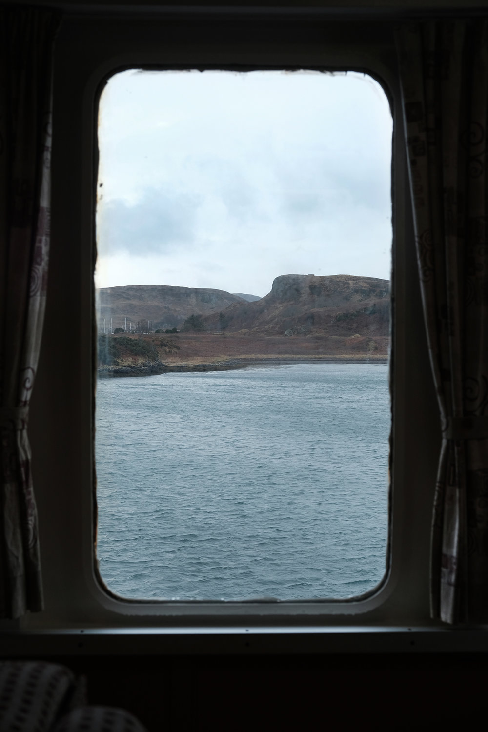 Window # 3 'Calm.' Ferry to Isle of Mull. West Scotland.