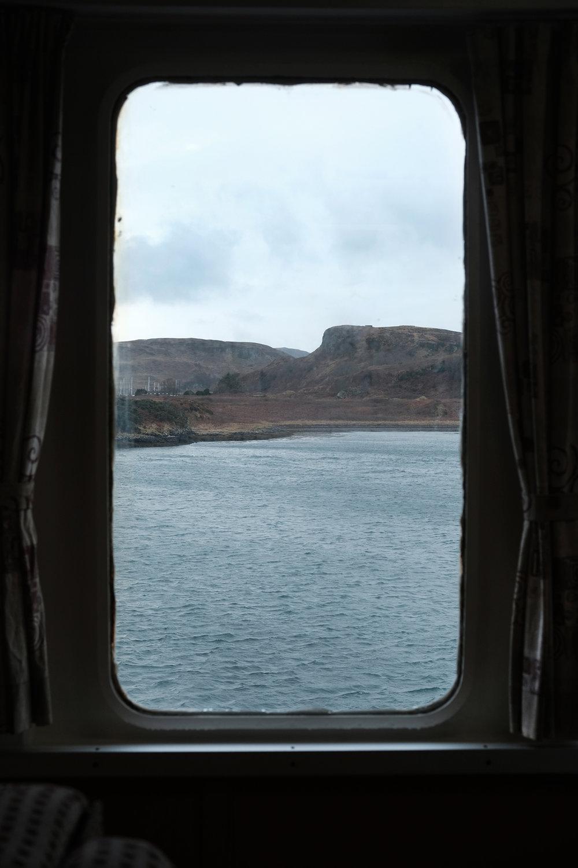Window # 3 'Calm.'Ferry to Isle of Mull. West Scotland.