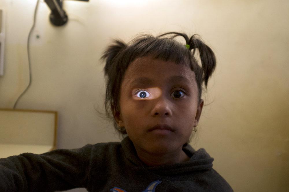 Eye treatment. Kathmandu, Nepal. 2013