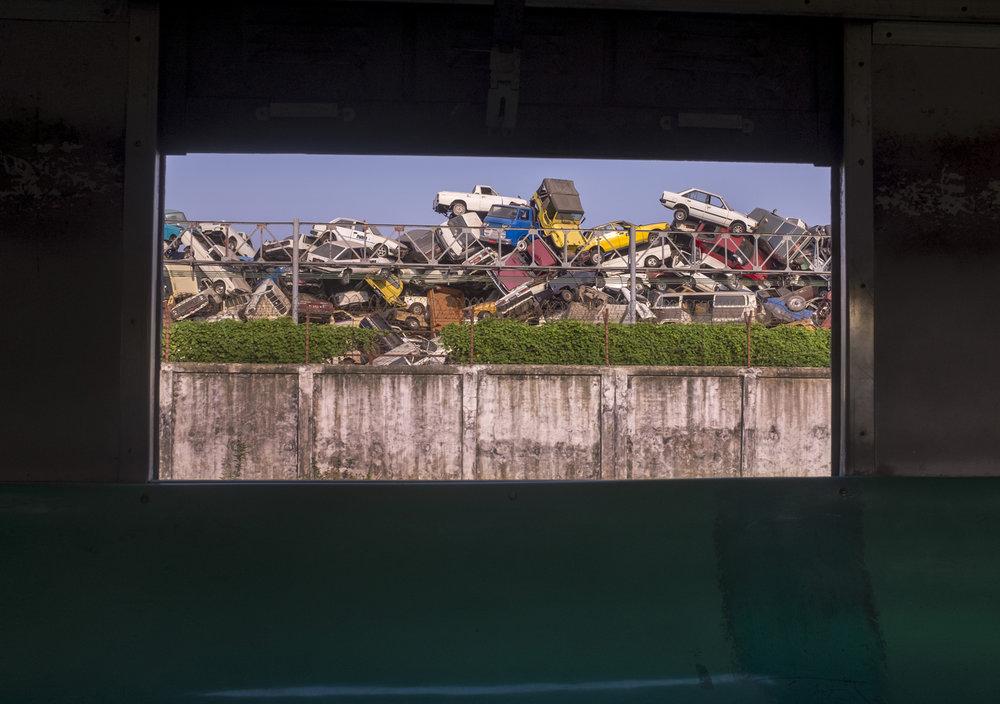 Where cars go to die. Rangoon, Burma. 2013
