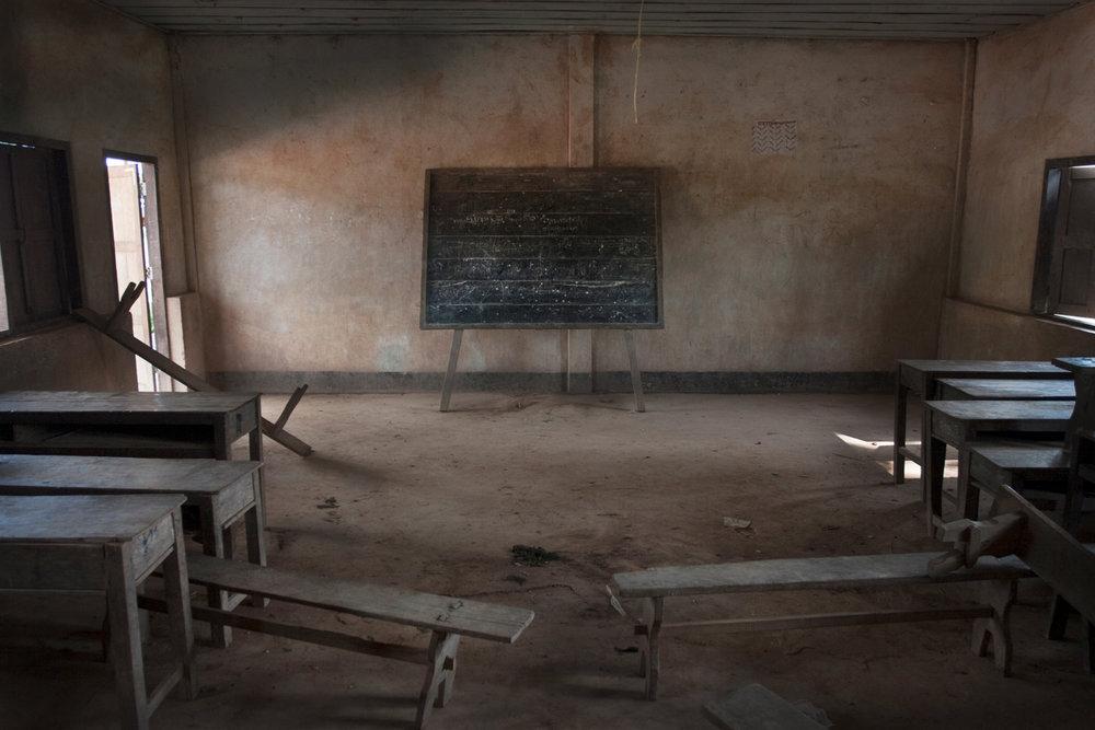 Abandoned school. Cambodia, 2005