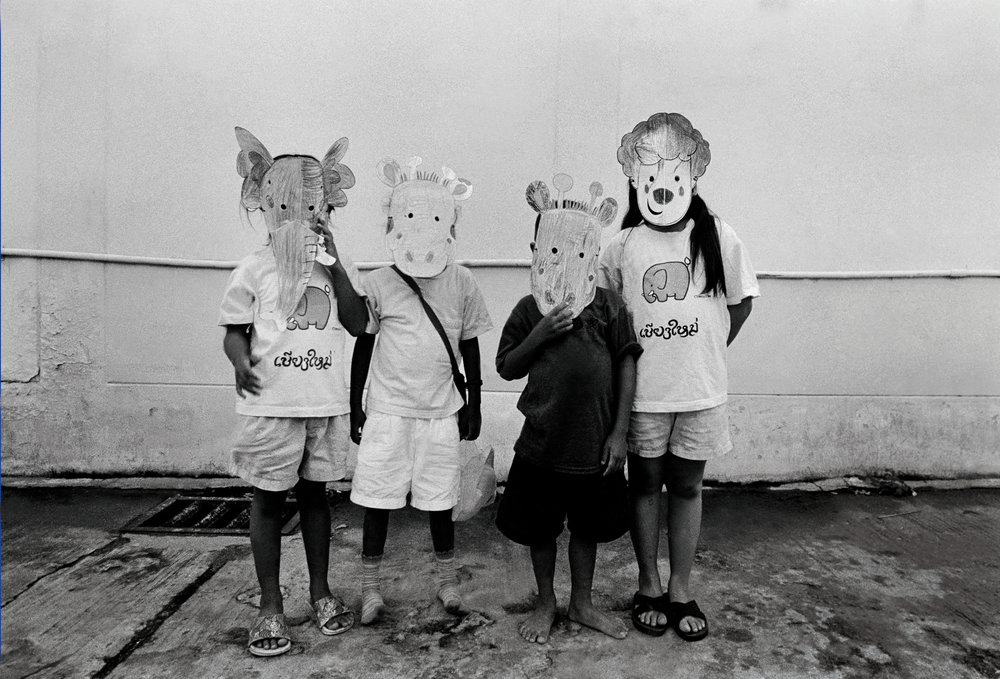 """Party."" Children at an orphanage for those with HIV. Chiang Mai, Thailand. The mid-1990s."