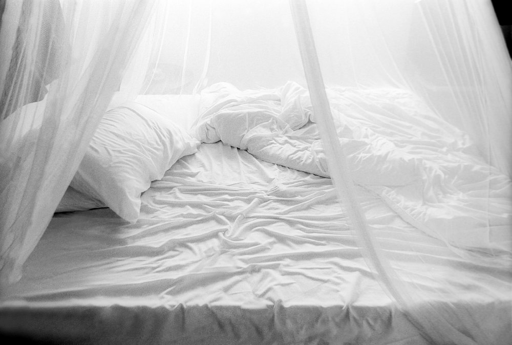 My bed. Chiang Mai, Thailand. 2001