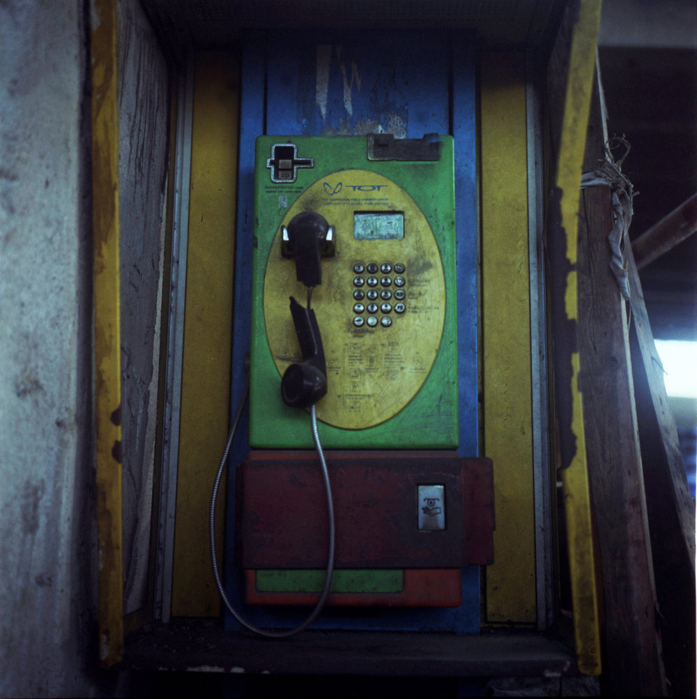 Cellphone killed the payphone. Bangkok, Thailand. 2012