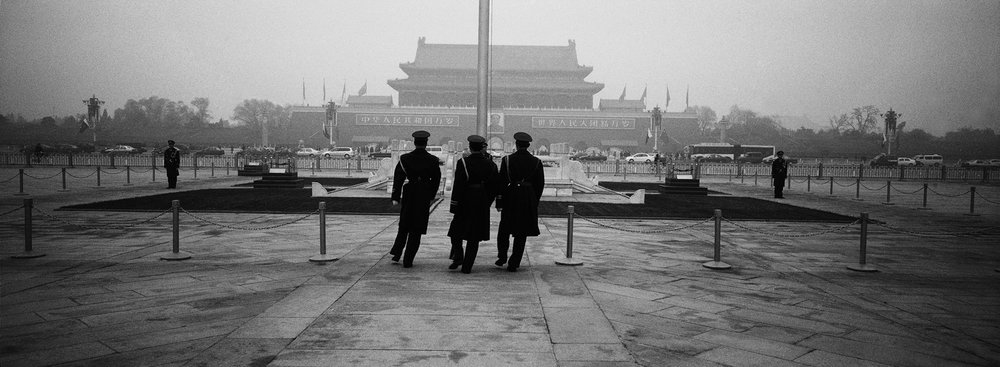 Changing of the guard, Tiananmen Square. Beijing, China. 2004