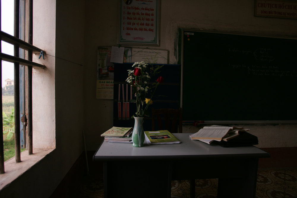 Teachers desk. Vietnam, 2007