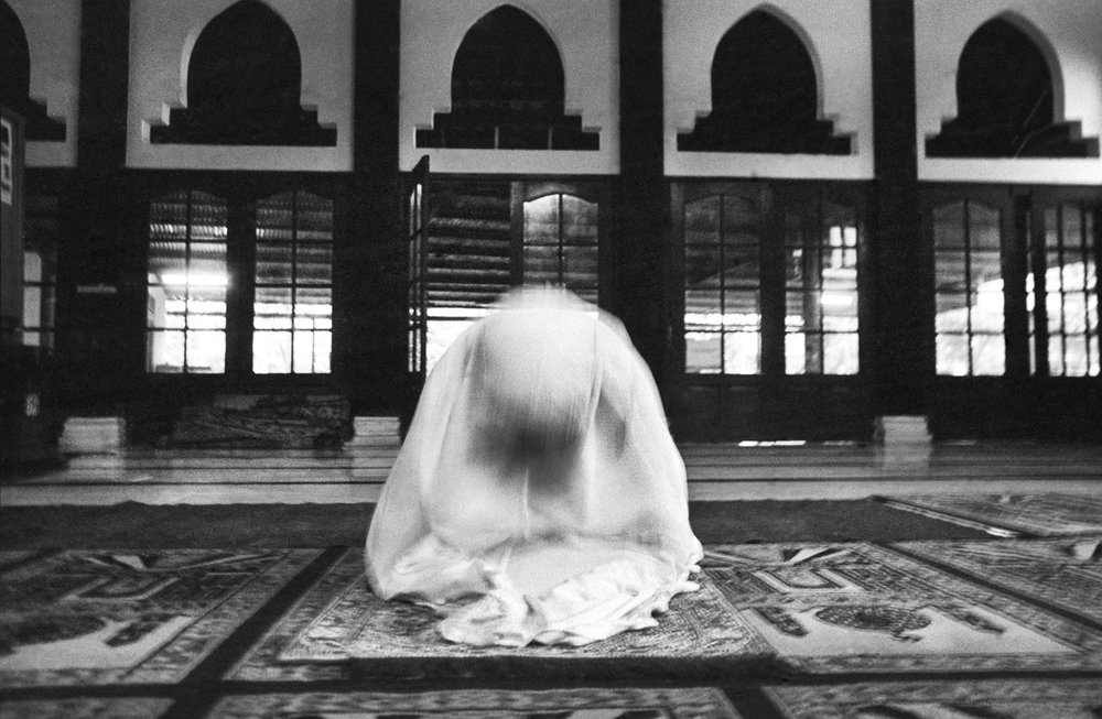 """Woman at Prayer"" Mosque, Yogyakarta, Java."