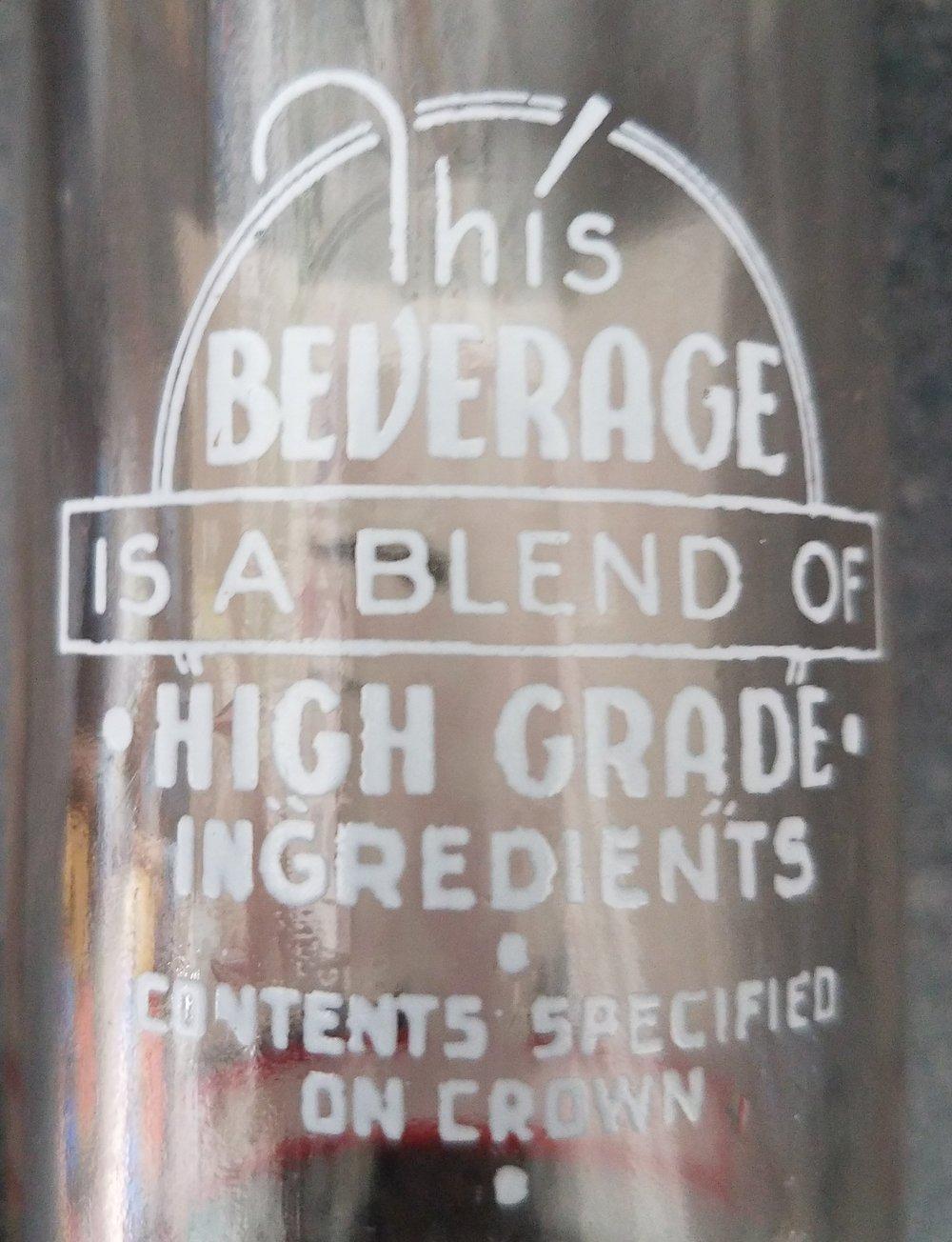 """High Grade"" Ingredients"