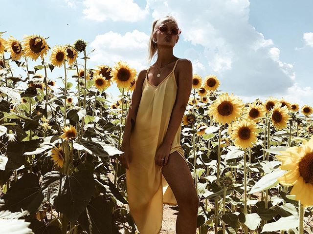 Festival season // beach season.. enough reasons for a cute dress. Check out our webshop or visit @theconceptpopup 🌻 #shopthelook #byjillshaw #sustainablefashion #silk #linkinbio