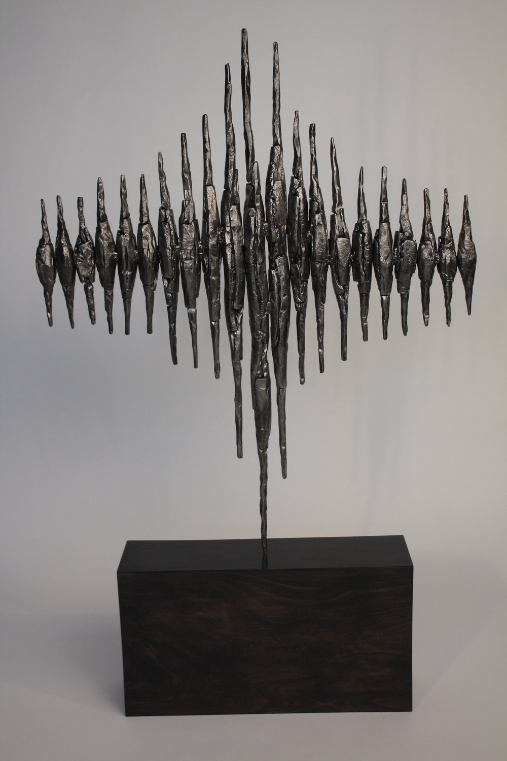 Cloudburst - 2016                 forged steel, ebonised wood, lead99 x 63 x12 cmSOLD