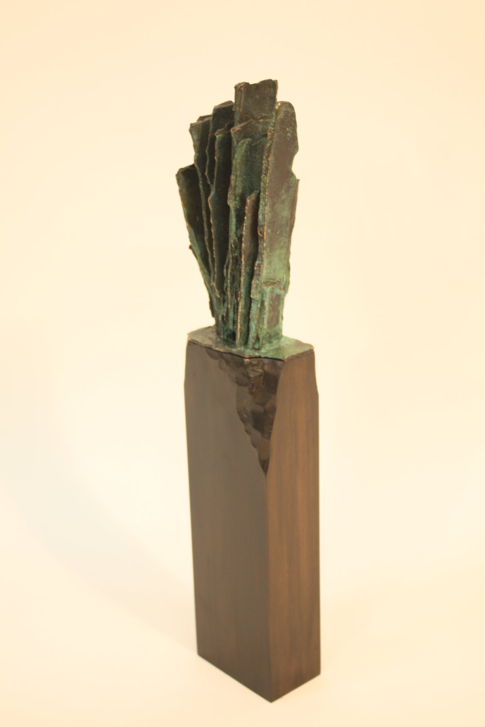 The Pillar of Freedom is Falling Apart - 2017Bronze, ebonised rimu50 x 6 x 10 cmSOLD