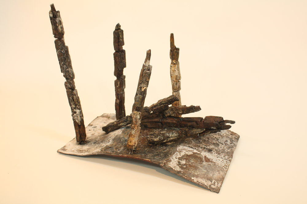 Is anything left? - 2017Forged steel and borax47 x 28 x 42cm
