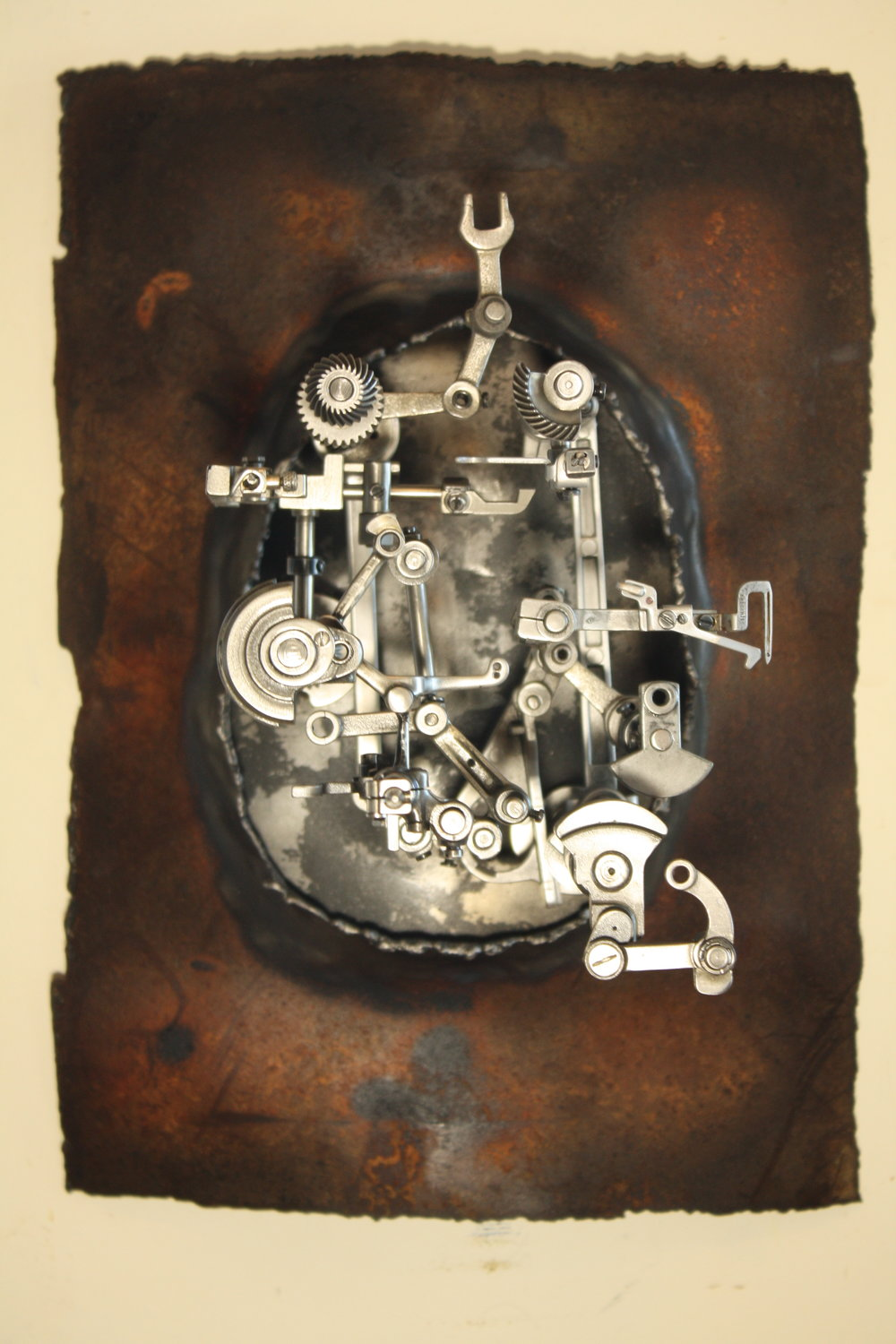 Mirror IX - Recycled steel, sewing machine parts2018