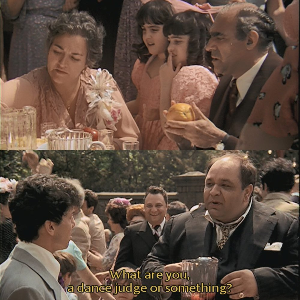 Minute 9: The Godfather-An Orange Easter Egg - It's Minute 9 and there are new characters popping up all over. Amanda and Stephen glimpse Clemenza, Tessio and Barzini for the first time and the ever-important orange makes its first of many appearances. They also discuss some of the other behind the scenes challenges facing the film before it even began shooting.
