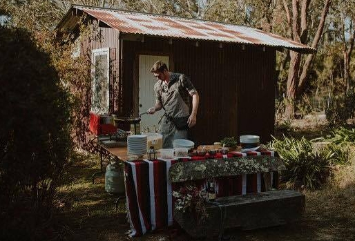 My pop up kitchen for a 17 guest full vegan elopement in the Blue Mountains!!