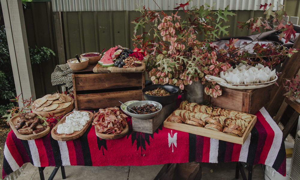 Breakfast grazing table by The Wilderness Chef