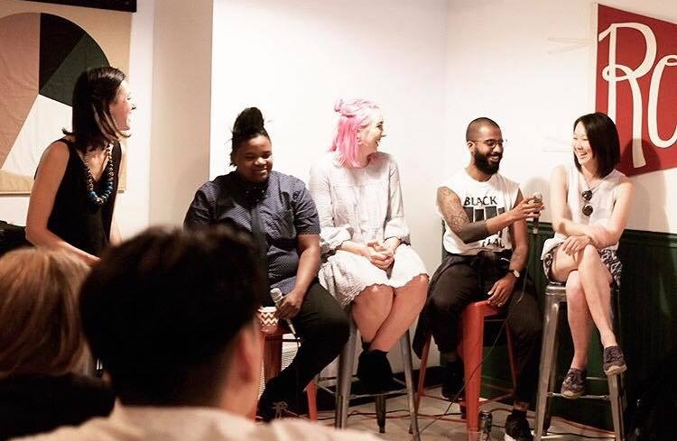 Unfiltered Panel Discussion hosted by Aleida Stone. Photo: Ashley Tomlinson @thelittleblackcoffeecup