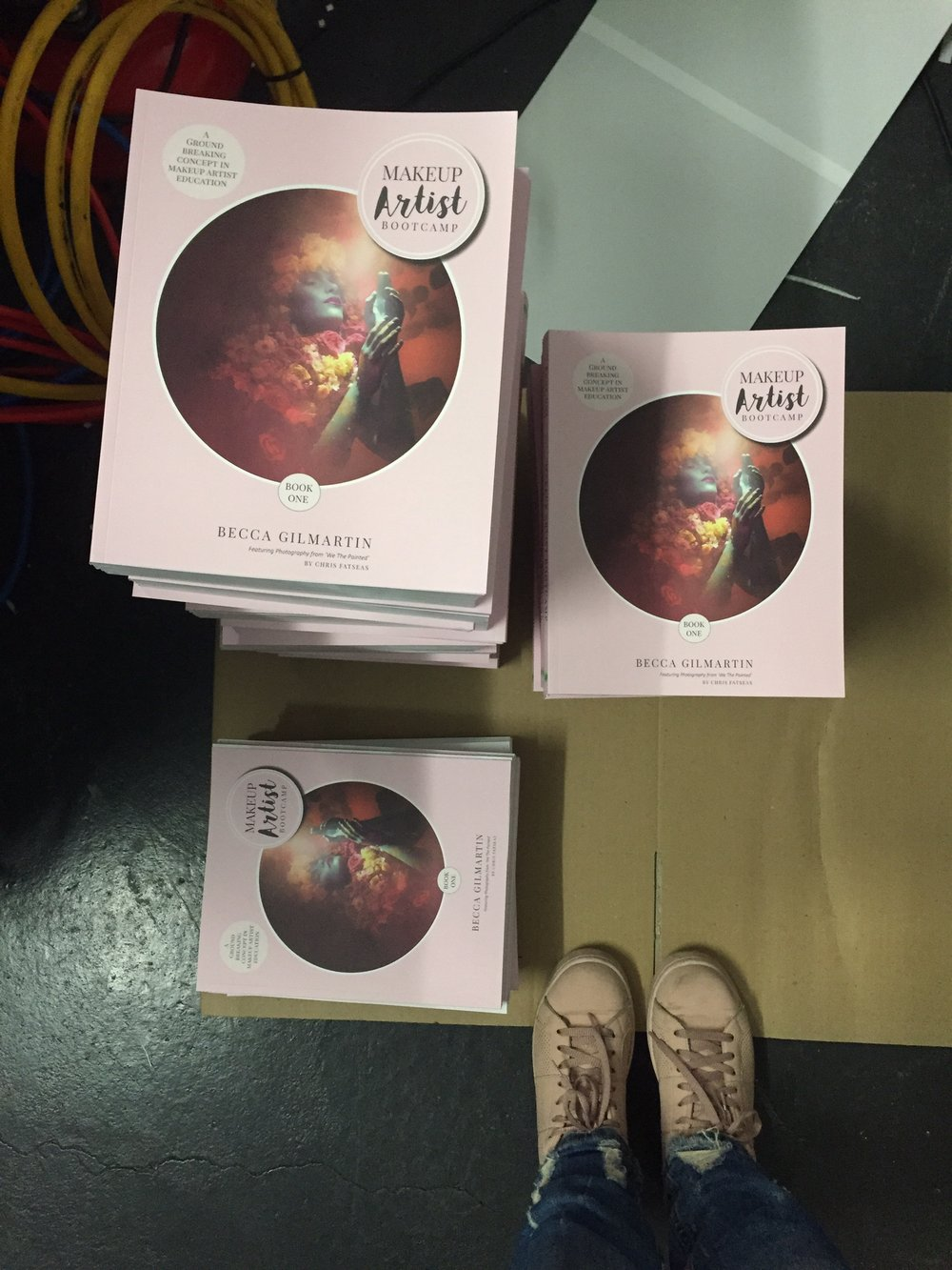They were real! I had done it! Every one of these books were in the hands of a Makeup Artist about to kick some ass of their own. I had the shoes to match.