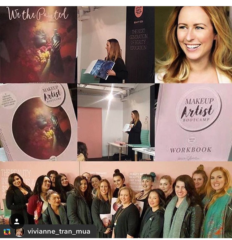 I held free info nights in Adelaide, Melbourne and Sydney about the course which turned into such amazing MUA get togethers and networking nights. So much love in the room! Here we are in Melb at Beauty Edu x