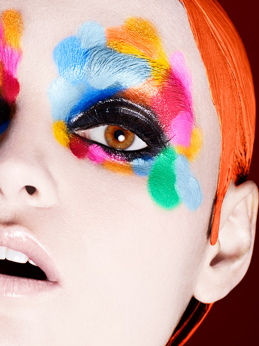 A makeup look I created for Kryolan Australia using their Supra Color palette x
