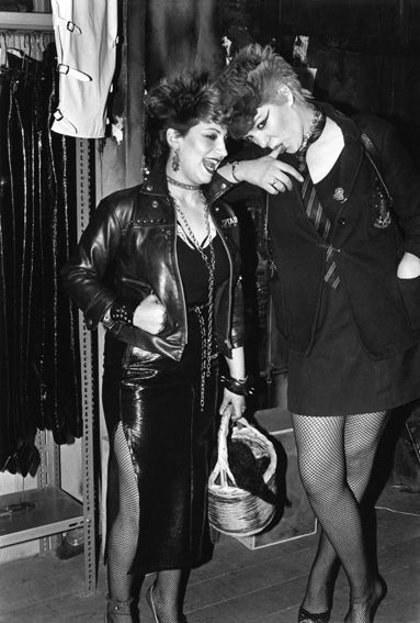Punk girls in BOY boutique, Kings Road, 1977. Copyright Sheila Rock