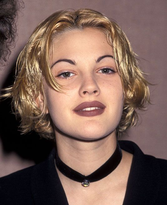 90s Drew Barrymore (one of the reasons I have no eyebrows still... they never recovered from this period)