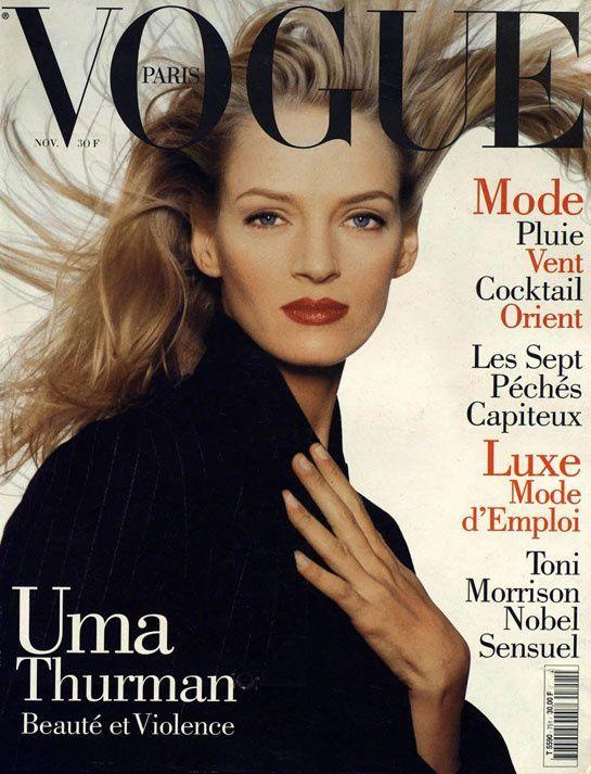 Uma Thurman Vogue Paris - November 1994