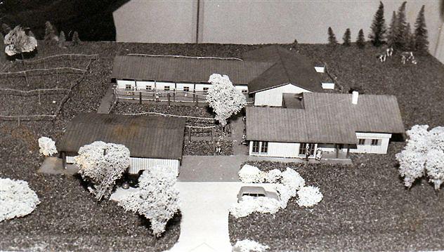 Modell des Tierheims, das 1984 neu entstehen soll