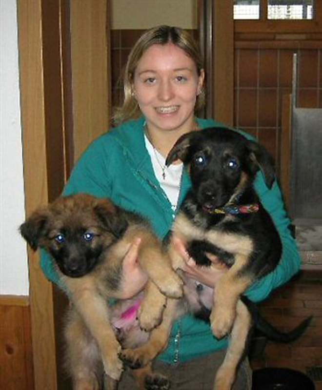 Anna Obermeier, die 1. Auszubildende im Tierheim Trenkmoos