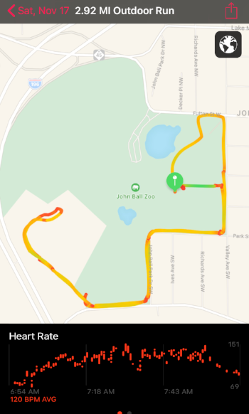 YHC tried to keep the PAX heart rate up. We averaged 120 BPM and maxed out when running the HIDDEN HILL and Sprinting to the finish.