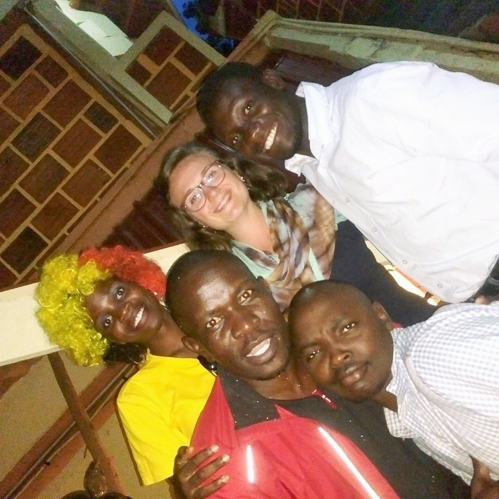 Elsa with CROSO Scholars at a full-day gathering in Kampala where nearly all 22 current scholars attended.