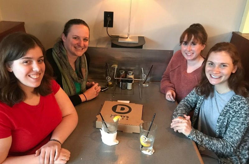 Molly with interns from the University of Dayton in April 2018.