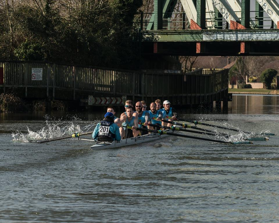 Men's Second Boat Winter League Part 2 February 2018 - Richard Meadows, Alex Tofts, Michael Dales, Paul Carter, Pilip Horton, Francisco Duarte, Richard Reumerman, Alex Guttenplan and coxed by Kenny Sandman.  Photo Credit - Robert Young