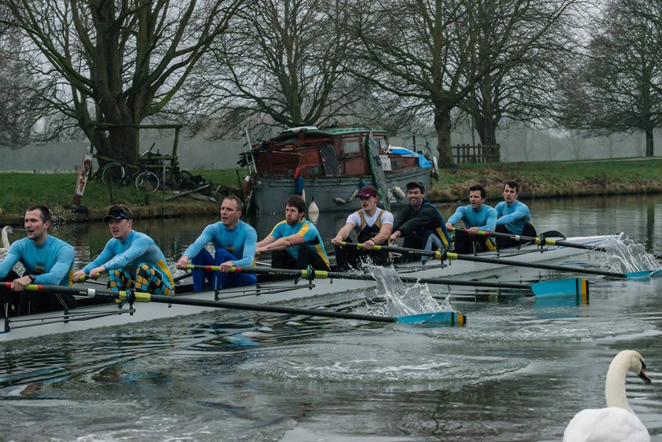Men's First Boat Winter League Part 1 January - Karel Kabelik, Rob Sargent, Alex Shaw, Will Young, Rhidian Maltby, Friso van Gent, Nick Thorn, Nick Richardson, coxed by Sammi Tarling.  Photo Credit - Robert Young
